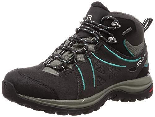 Salomon Ellipse 2 Mid LTR GTX, Scarpe da Hiking Donna, Nero (Phantom/Castor Gray/Aruba Blue), 38 2/3...