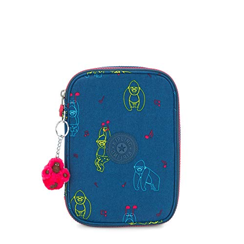 Kipling 100 PENS Astuccio, 21 cm, 1.5 liters, Multicolore (Rocking Monkey)