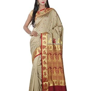 c950aa3e6b Misal Sarees Women's Handloom Baluchari Silk Saree with Blouse Piece  (CM2606_Tussar_Free Size)