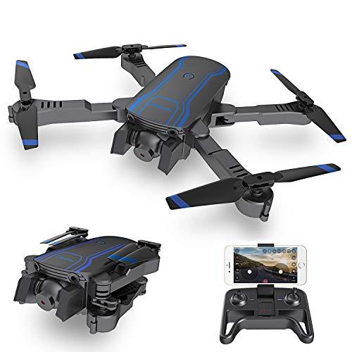 AKASO A300 Drone portatile con doppia camera Quadricottero pieghevole Live Video con 1080P HD con la funziona Atterraggio d'emergenza e Un tasto Decollo/Atterraggio per bambini Principianti e Adulti