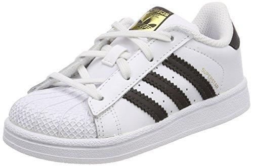 adidas Superstar I I, Pantofole Unisex-Bimbi, Bianco (Footwear White/Core Black), 21 EU