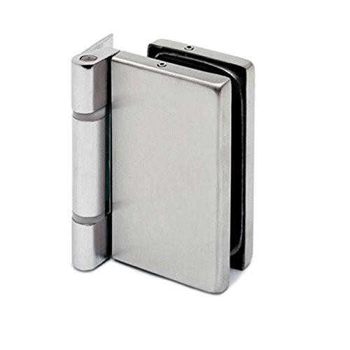 Glastür-Scharnier für Glas-Holzzarge-Montage für Glasstärke 8 - 10 mm