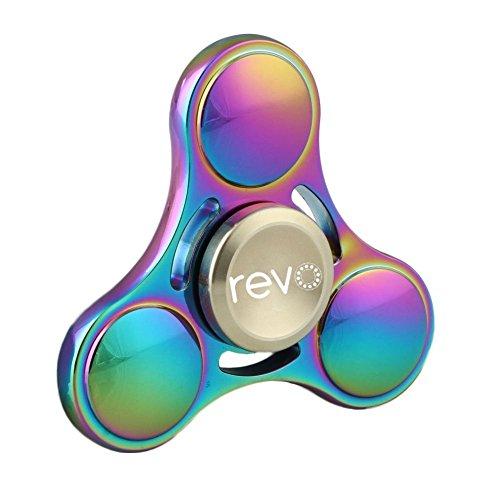Fidget Spinner Amazon Mehrfarbig Multicolor Rainbow, 8 Minuten Deutsche Lager Haltung Spinnere Metall