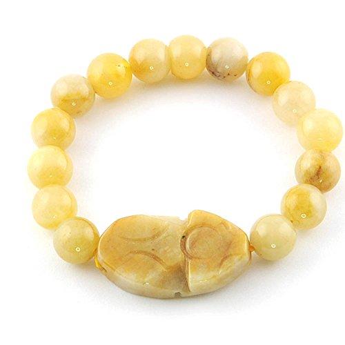 Mes-Bijoux-Bracelets Pulsera Charms Serpiente Joya Moda Perla Mujer Naranja longevidad Escarabajo Egipcio wz-B0146