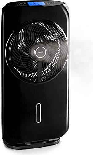 Klarstein Cool Tropic - Standventilator, Luftbefeuchter, 90° Oszillation, 48 Watt, 2820 m³/h, 8 Geschwindigkeitsstufen, 1.6 Liter, max. 59 db, Touch, Fernbedienung, rot