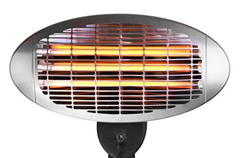Firefly 2KW FreeStanding Water Resistant Infared Electric Garden Outdoor Indoor Patio Heater - close up view