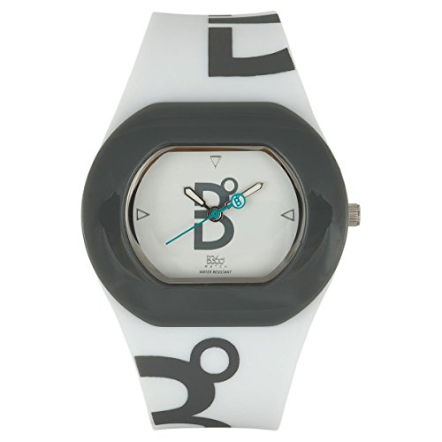 B360 WATCH Unisex-Armbanduhr Small, 3 bars Analog Quarz Silikon B COOL WHITE GREY