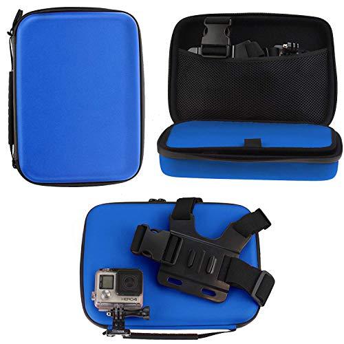 Navitech - Blu Custodia per videocamere d'azione Compatibile con Topop OD009B-SVESK3 | Toshiba...