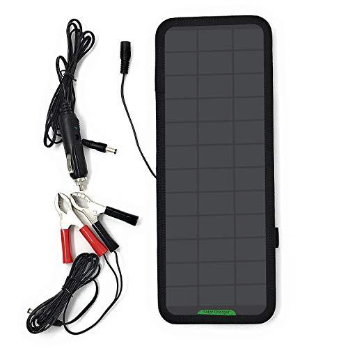 Giaride 12V 18V 7.5W Cargador Solar de 12V Baterías Cargador de Coche Portátil Fotovoltaico Sunpower Panel Módulo Solar para Coches, Caravana, Moto, Bote, Barco