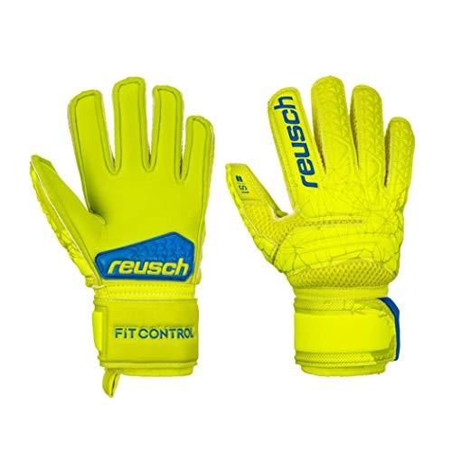 Reusch - Guanti da Portiere per Bambini Fit Control S1, Bambini, 3972215, Lime/Safety Yellow, 5