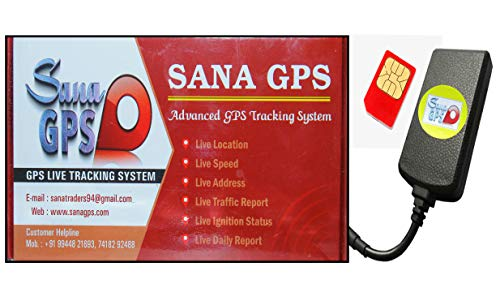 Sana GPS Tracker With Free One Year Software and Sim Recharge for Bike,Car,Bus,Truck Etc (Inbuilt Battery + Waterproof + Vehicle Battery Saver Mode + Engine Lock)