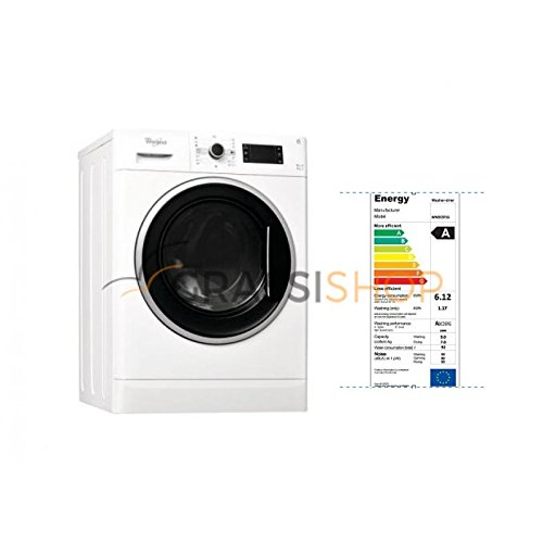 Whirlpool WWDC 9716 freestanding Front-load A Black,White - washer dryers (Front-load, Freestanding,...