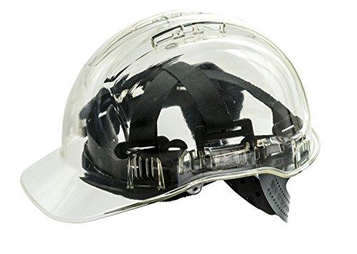 Casco Workwear World WW336, duro, de trabajo, translúcido, con ventilación y de seguridad