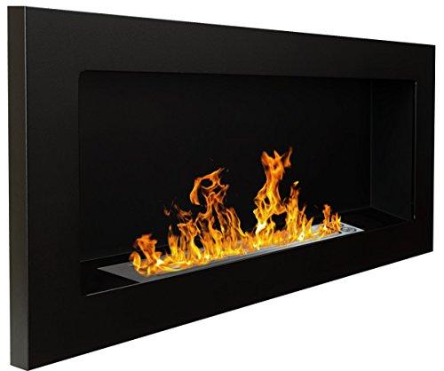 Bio Ethanol Fire BioFire Fireplace Modern 900 x 400 Black