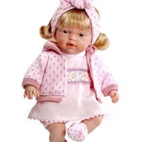 ARIAS - Muñeca bebé Hanne, con Mecanismo de Risa magnético, 28 cm (60074)
