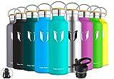 Super Sparrow Trinkflasche Edelstahl Wasserflasche - 500ml - Isolier Flasche mit Perfekte Thermosflasche für Das Laufen, Fitness, Yoga, Im Freien und Camping | Frei von BPA (Minze)