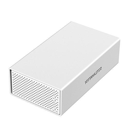 Yottamaster USB 3.0 Disco Rigido Esterno Custodia 2-bay Hard Drive Enclosure in Alluminio per 3.5...