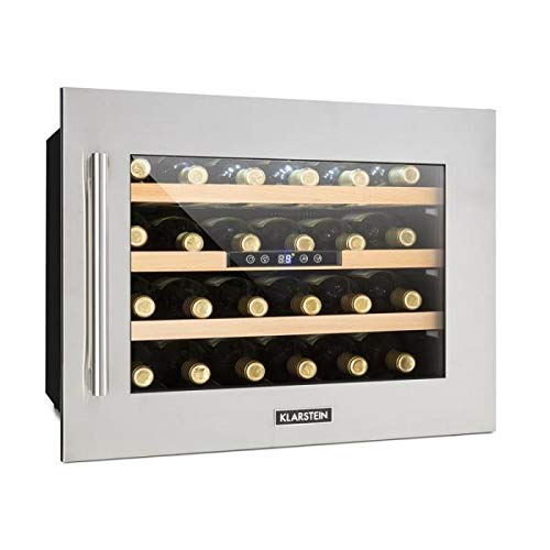 Klarstein Vinsider 24D • Cantinetta Vino • Frigo Vino • 24 Bottiglie • 1 Zona Refrigente •...