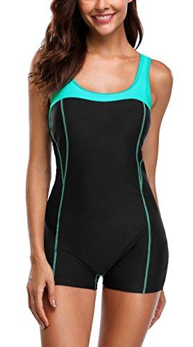 Attraco Women s One Piece Swimming Costume Athletic Boyleg Swimwear  Raceback Swimsuit Bathing Suit 276699668