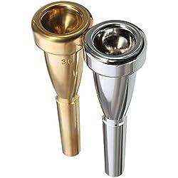 Boquilla de trompeta Tamaño 3C para Yamaha Para boquilla de Bach Accesorios de trompeta Plata
