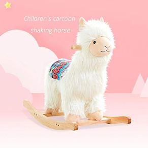 XXM Baby Rocking Horse, para 1-3 Bebés De Un Año De Edad De Madera para Niños Pequeños Rocker Animal Al Aire Libre…