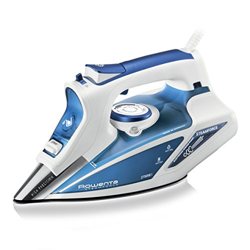 Rowenta DW9220 Steam Force Ferro a Vapore con Piastra Microsteam 400, 2750 W, Blu