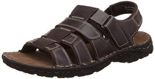Red Tape Men's Brown Leather Sandals and Floaters - 8 UK/India (42 EU)