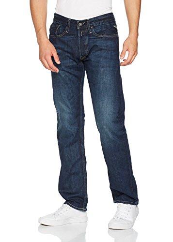 Replay-Herren-Straight-Leg-Jeanshose-NEWBILL-Blau-Dark-Blue-Denim-007-W33L32