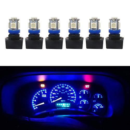 WLJH - Confezione da 6 lampadine a LED T10 194, 168 LED per pannello strumenti, quadri, cruscotto,...