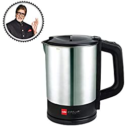cello. Stainless Steel Quick Boil 900 Electric Kettle (1Ltr, Black, Silver)