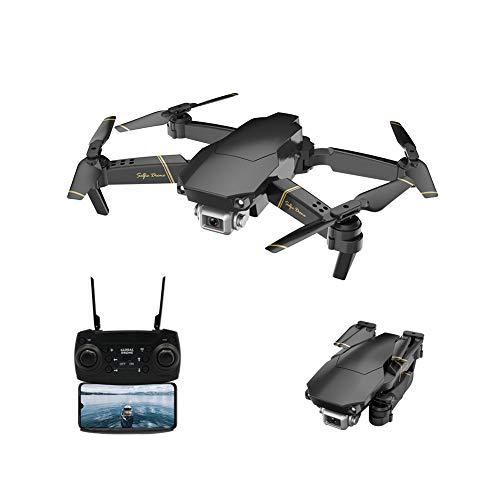 Adsvtech Drone WiFi FPV con videocamera 1080 HD per Principianti Quadricottero Pieghevole RC, commutazione Doppio Colpo, Tempo di Volo di 15 Minuti, Posizionamento del Flusso Ottico