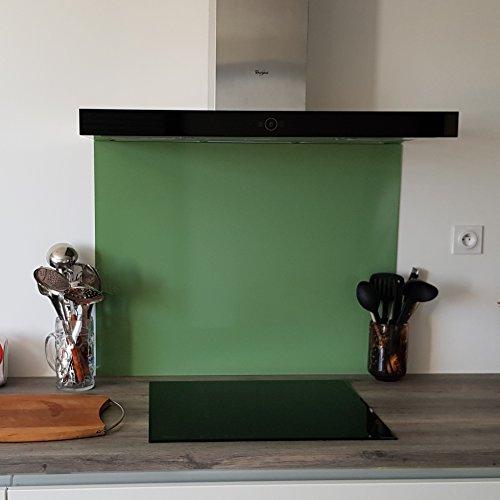 Crédence alluminio verde pallido-Altezza 20Cm X LARGHEZZA 40CM