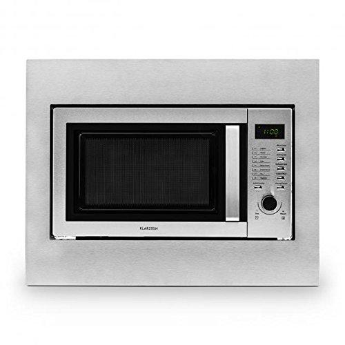 Klarstein Steelwave forno a microonde (800 Watt, 23l, a incasso, piatto girevole, 8 programmi...
