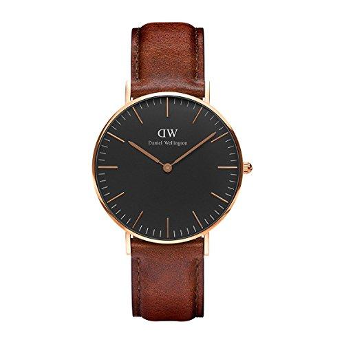 Daniel Wellington Unisex Analog Quarz Uhr mit Leder Armband DW00100136