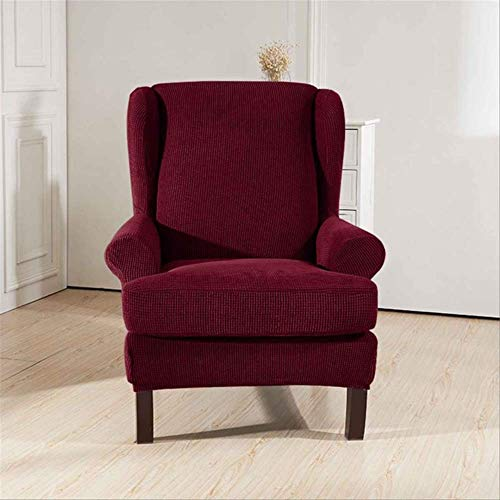 DINDAL Fodera per Sedia Sloping Arm King Back Chair Copertura Elastica Poltrona Wingback Wing Sofa Back Chair Copertura Stretch Altro Borgogna
