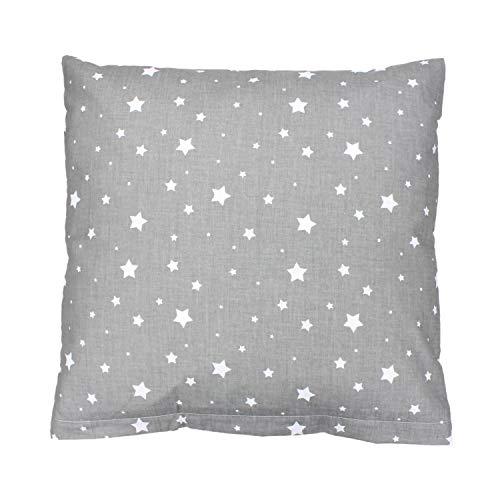 TupTam Funda de Almohada con Diseños para Niños, Estrellas Gris, 60 x 60 cm