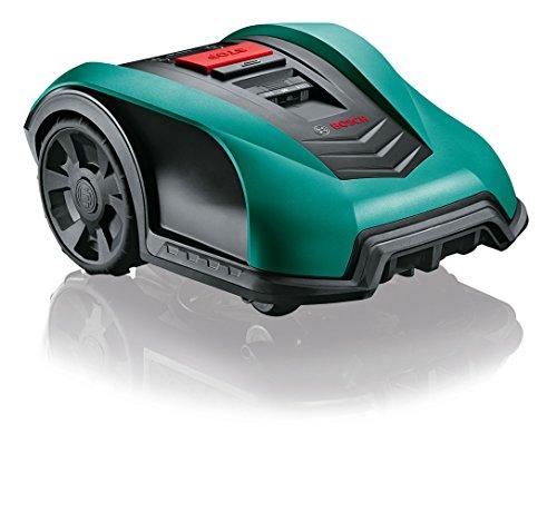 Bosch Indego S Tagliaerba Fai da Te, 06008B0000, 18 V, 2.5 Ah, per Carica Falciatura Fino a 350 di Superficie, 1 pezzo, Nero/Verde