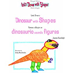 Let's Draw a Dinosaur With Shapes/ Vamos a Dibujar un Dinosaurio Usando Figuras (Let's Draw With Shapes)
