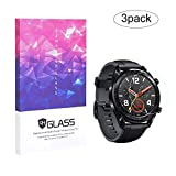 UIQELYS Huawei Watch GT Protector de Pantalla 2.5D 9H Cristal Templado Protector de Pantalla para...