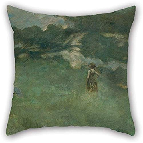 San Valentino Cuscino Shams Of Oil Painting Thomas Wilmer Dewing - The Hermit Thrush For Kids Room Boy Friend Divan Him Bar Seat Teens