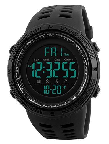 Orologi da polso da uomo - 50M impermeabili digitale Orologi sportivi da uomo militare orologio con...