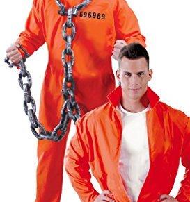 FIESTAS GUIRCA Traje de Recluso convicto Traje de prisión Naranja