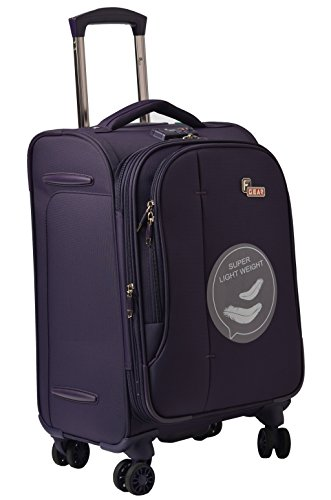 F Gear Aspire Polyester 54 cms Purple Softsided Cabin Luggage (2752)
