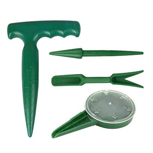 CampHiking - Juego de 4 Piezas de perforadoras de jardín para Plantas carnosas