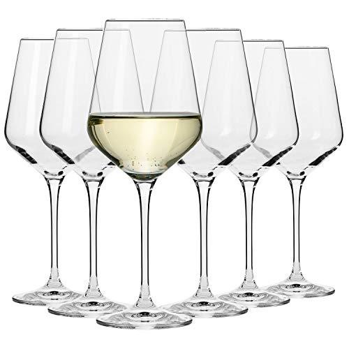 Krosno Grandi Bicchieri Calice Vino Bianco | Set di 6 | 390 ML | Collezione Avant-Garde | Ideale per...