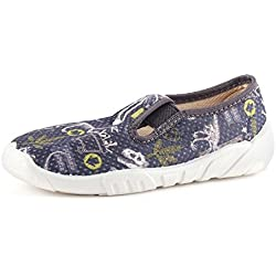 Ladeheid Zapatillas Zapatos Calzado Unisex Niños LAZT001(Azul Marino/Dinosaurio, 32)