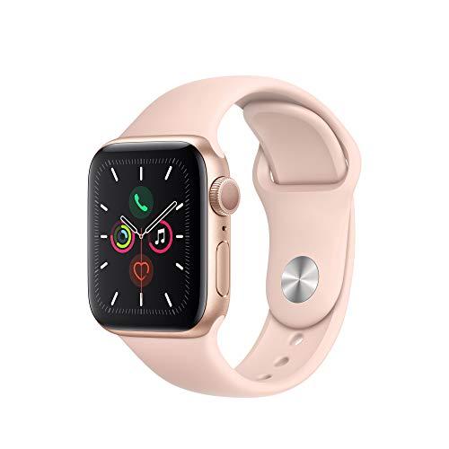Apple Watch Series 5 (GPS, 40mm) Cassa in Alluminio, Oro e Cinturino Sport - Rosa Sabbia