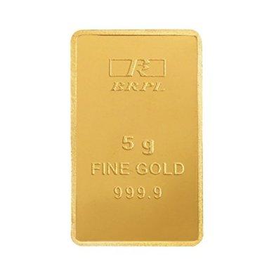 Bangalore Refinery 5 gm, 24k (999.9) Yellow Gold Bar 2