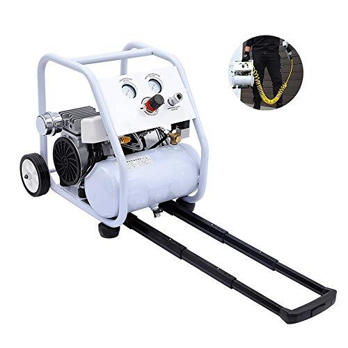 Luftpumpe Ölfreie Geräuscharmer Luftkompressor, Kühlventilator, bewegliche Luft Kompressor, Dual-Druckmessgeräte, Ein Motor1000W-5L Dekoration