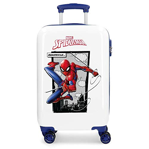 Marvel Spiderman Action Valigia per Bambini, 55 cm, 33 litri, Blu (Azul)